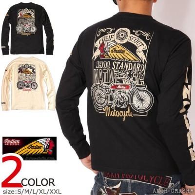 インディアンモトサイクル CHIEF SCOUT ロンT IMLT-904 INDIAN MOTOCYCLE 刺繍 ワッペン 長袖Tシャツ