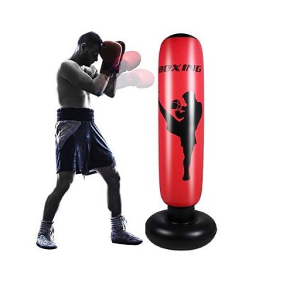 Rehomy Inflatable Punching Bag for Adult, 63inch Free Standing Boxing Targe