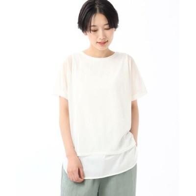 UNTITLED/アンタイトル 【洗える】シアーレイヤードプルオーバー ホワイト(002) 02(M)