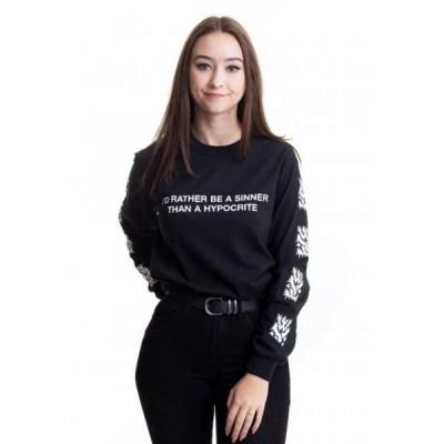 インペリコン Impericon レディース 長袖Tシャツ トップス - Sinner - Longsleeve black