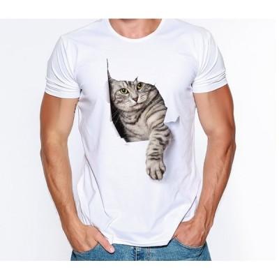 【送料無料】猫 猫柄 Tシャツ アメショー メンズ トップス ユニーク 個性的 かわいい ねこ ネコ グッズ 雑貨