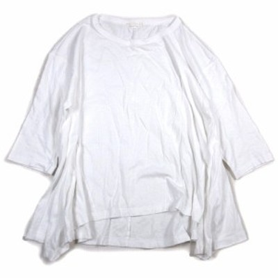 【中古】スタディオクリップ Studio Clip オーバーサイズ Tシャツ 七分袖 Aライン フレアー カットソー 無地 白