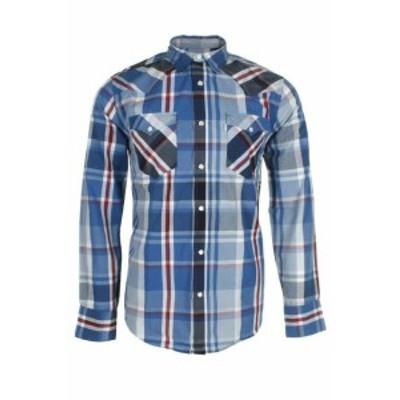 Levis リーバイス ファッション アウター Levis Mens Long Sleeve Western Cut Snap Plaid Shirt