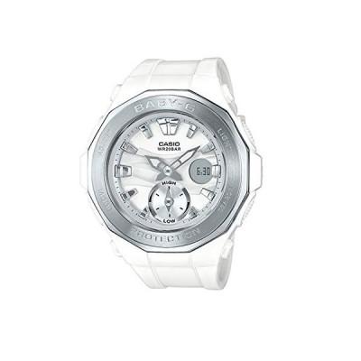 腕時計 カシオ メンズ BGA220-7A Casio G-Shock BGA-220-7A Wht/Silver Silver Bezel - White Silver/One Si