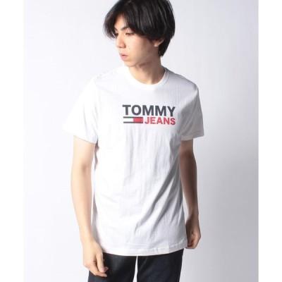 【トミージーンズ】ロゴコットンTシャツ