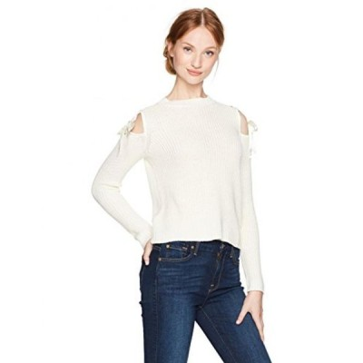 ゲス レディース セーター(プルオーバー型) Guess Women's Long Sleeve Karin Shoulder Tie Sweater