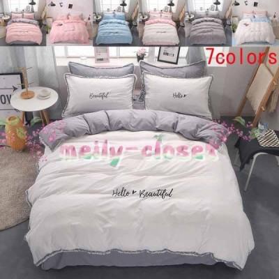 ベッドカバー 寝具セット オールシーズン 3点セット ベッドシーツ 敷き布団カバー  ベッド用品 布団カバー 5colors 柔らか