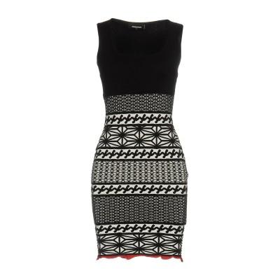ディースクエアード DSQUARED2 ミニワンピース&ドレス ブラック XS 82% レーヨン 18% ポリエステル ミニワンピース&ドレス