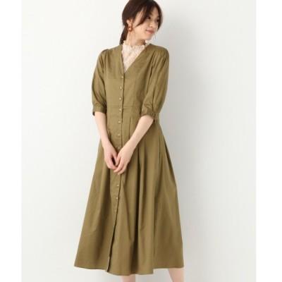 ドレス フロントボタンVネックワンピース【MATINEE LINE】/835840