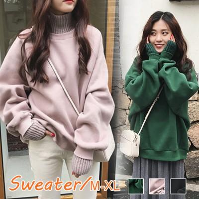 2020韓国ファッション 秋服 冬服 大きいサイズ /パーカー 暖か 伸縮 ゆったり トップス レディース