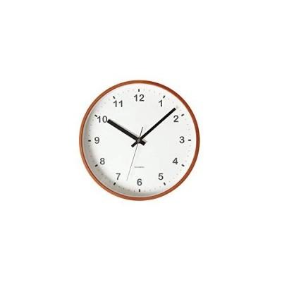 KATOMOKU plywood wall clock ライトブラウン スイープ(連続秒針) km-36M φ252mm (電波時計)