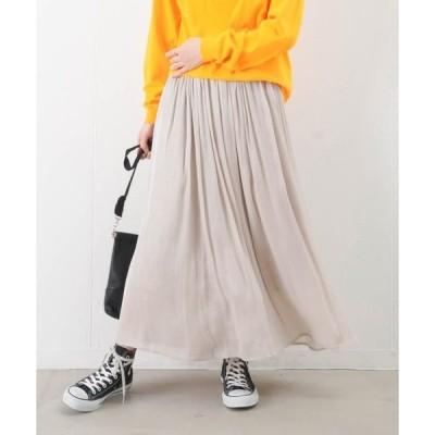 スカート LC/LLL 楊柳サテンギャザースカート