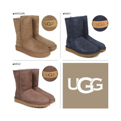 (UGG/アグ)UGG アグ ムートン ブーツ クラシック ショート 2 WOMENS CLASSIC SHORT II 1016223 レディース/レディース ネイビー