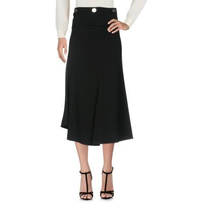 VICTORIA BECKHAM ロングスカート ブラック 12 レーヨン 50% / アセテート 42% / ポリウレタン 8% ロングスカート
