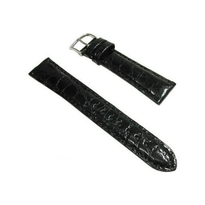 MORELLATO モレラート Amadeus アマデウス 時計用 ベルト ワニ革 黒 ブラック メンズ 18mm 19mm 20mm イタリア製 正規品