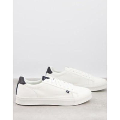 リバーアイランド メンズ スニーカー シューズ River Island sneakers in white White