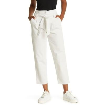 マザー レディース カジュアルパンツ ボトムス The Greaser Paperbag Pleated Pants HAL CHALK