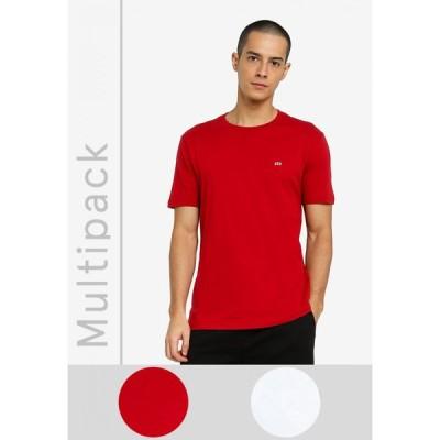 ギャップ GAP メンズ Tシャツ トップス Multipack Crew Mix T-Shirts White Global/Red