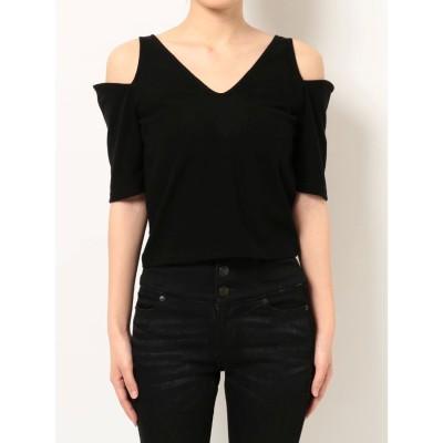 EMODA アームカッティングフィットTシャツ(ブラック)