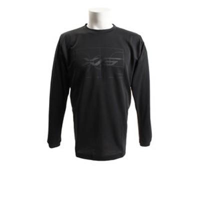 Tシャツ メンズ 長袖 ドライプラスW 吸汗速乾 バスケグラフィック 751G8ES8701 BLK 【 バスケットボール ウェア 】