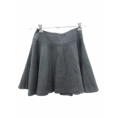 【中古】ティアラ Tiara スカート フレア ミニ 2 黒 ブラック /CT レディース