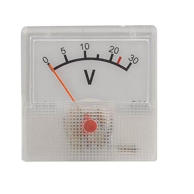 uxcell DC電圧パネル  メーター 91C16 DC 0-30V プラスチック クラス5 ホワイト クリアー