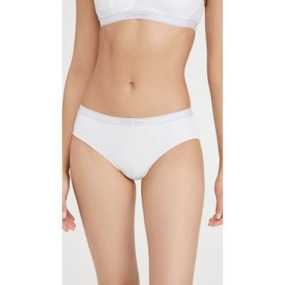 カルバンクライン Calvin Klein Underwear レディース ショーツのみ インナー・下着 Pure Rib Hipster Briefs White