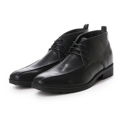 ウィルソン Wilson ビジネスシューズ メンズ 4cm防水、防滑 チャッカブーツ 紳士靴 (BLACK)