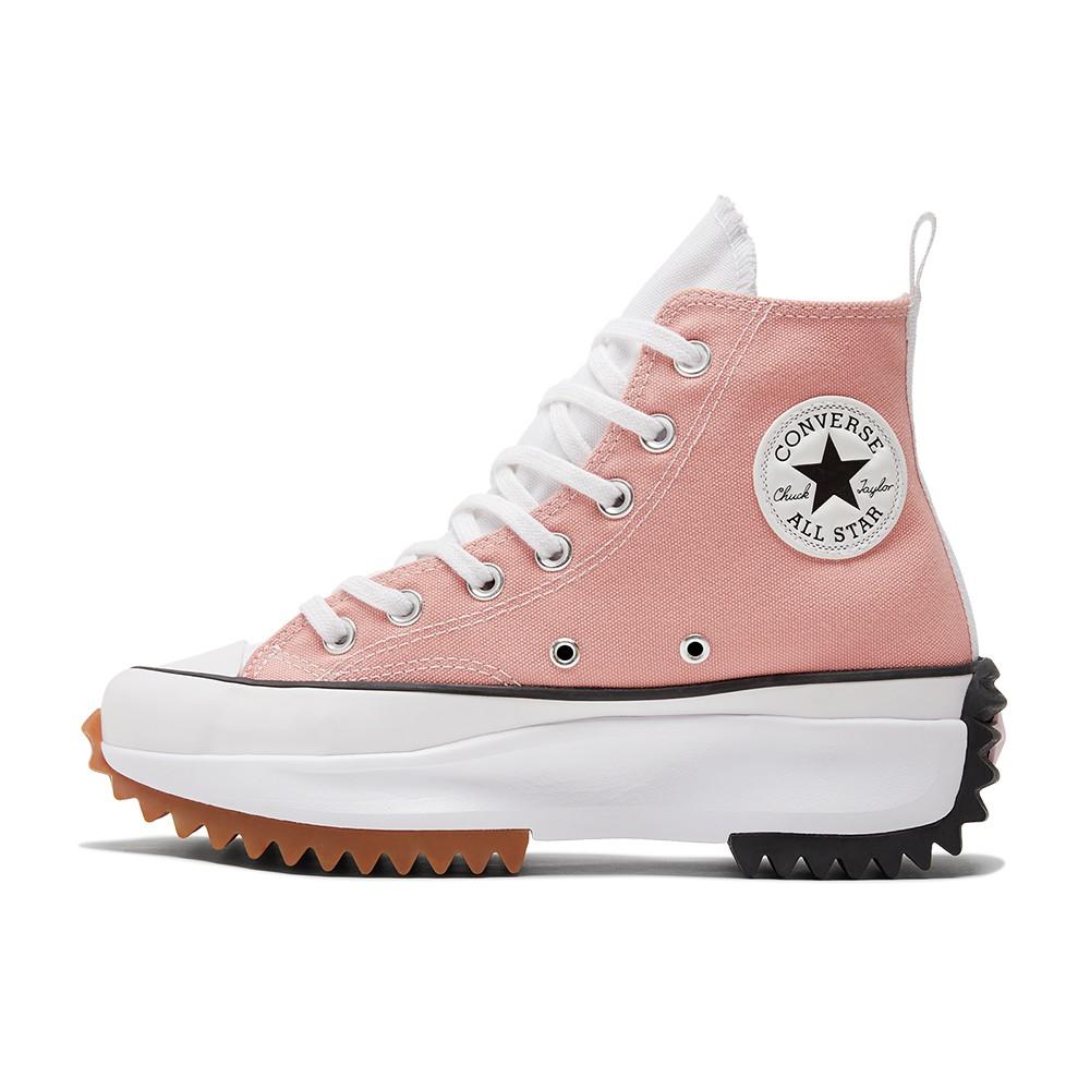 CONVERSE RUN STAR HIKE HI 高筒男女三色拼接厚底休閒鞋 170968C 粉紅色
