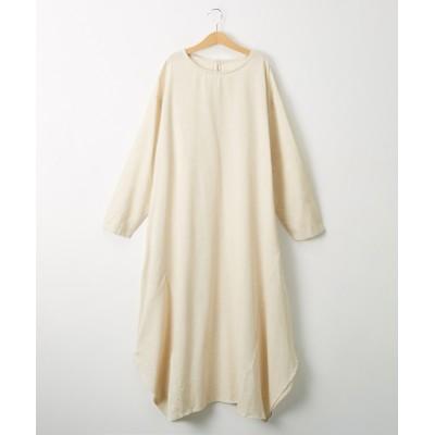 【20春夏】綿麻素材 イレギュラーヘムワンピース (ワンピース)Dress