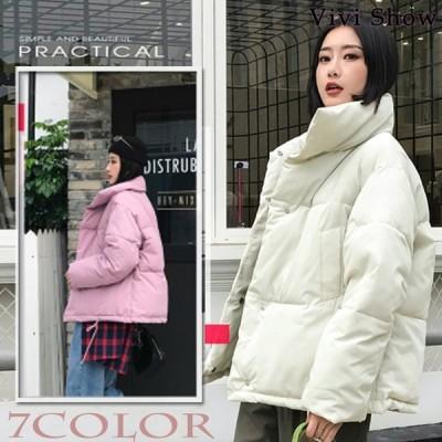 ダウンコート レディース ダウンジャケット ショット オシャレ 韓国風 秋冬アウター コート ジャケット 人気 ゆったり