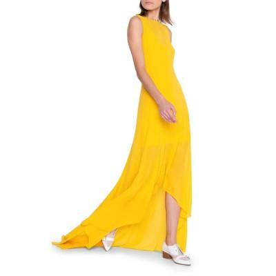アクリス レディース ワンピース トップス Silk Georgette High-Low Gown