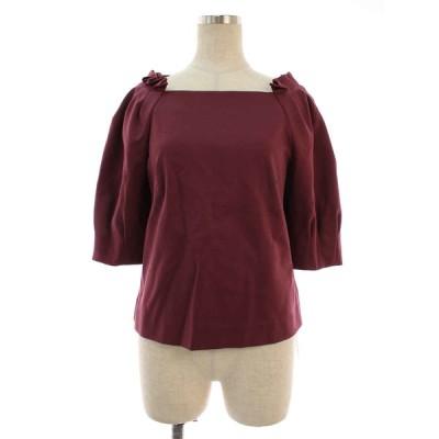アドーア Tシャツ カットソー ハイゲージツイルビッグスリーブカットソー 半袖 38