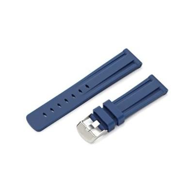 【新品・送料無料】hadley-romaメンズms3373rf 22022-mm Genuine Silicone Diverスポーツ時計ストラップ