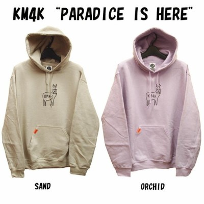 "KM4K【カモシカ】パーカー KM4K HOOD ""PARADICE IS HERE""【正規品】"