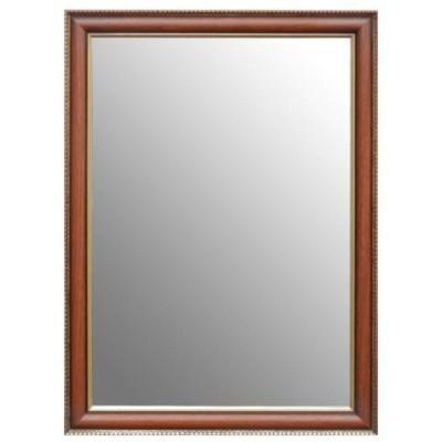 壁掛けミラー 長方形 ウォールミラー 姿見 鏡 茶色 MR-380N