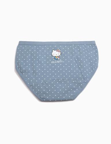 Hello Kitty懷舊系列.低腰生理褲(藍點點-糖果)