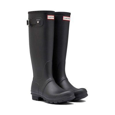 ハンター(HUNTER) レディース オリジナル トール ブラック WFT1000RMA BLK 長靴 ロングブーツ ラバーブーツ 雨靴 レインシューズ レインブーツ