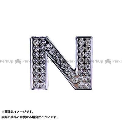 【無料雑誌付き】マッドマックス 汎用 ダイヤ文字エンブレム カラー:シルバー 仕様:文字:N MADMAX