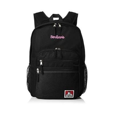 [ベンディビス] リュック XLサイズ メッシュポケット リュックサック 通勤通学に最適です (ブラックピンク Free Size)