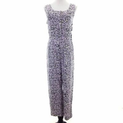 【中古】スナイデル snidel オールインワン サロペット ノースリーブ 花柄 F 紫 パープル /M2 レディース