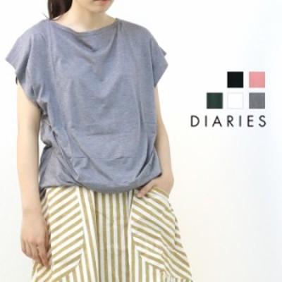 ダイアリーズ DIARIES リヨセルコットン・タックプルオーバー KA31822 半袖Tシャツ 無地 レディース 変形  /返品・交換不可/SALE セール