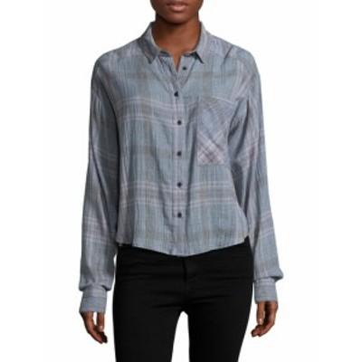 フリーピープル レディース トップス シャツ Cropped Plaid Button Up Shirt