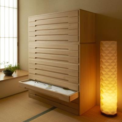 自分仕様に造れる 総桐ユニット箪笥 着物収納箪笥10段