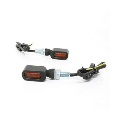 超小型 マイクロミニ LED ウインカー ブラックボディ オレンジレンズ 車検対応 2個セット オレンジ/アンバー発光