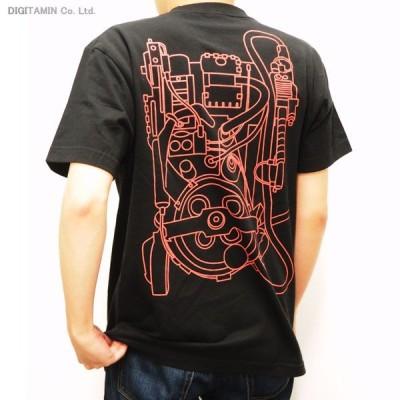 送料無料◆YUTAS ゴーストバスターズ オフィシャルライセンス プロトンパックTシャツ Type.A(BLACK) Lサイズ(ZG21278)