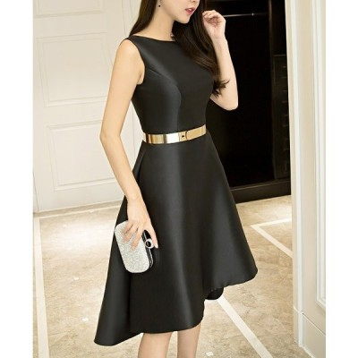ドレス シルク アシンメトリー エレガント 小さいサイズあり