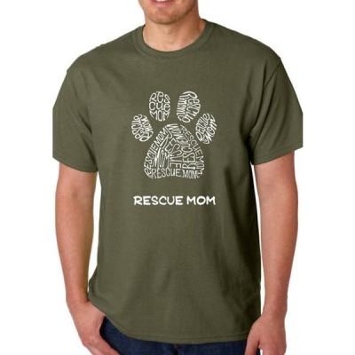 エルエーポップアート メンズ Tシャツ トップス Word Art Graphic T-Shirt - Rescue Mom