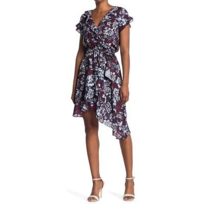 パーカー レディース ワンピース トップス Asymmetrical Wrap Midi Dress CORDOVAN G