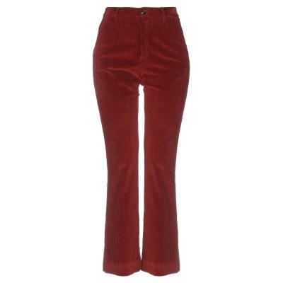 プラスピープル (+) PEOPLE パンツ 赤茶色 46 コットン 98% / ポリウレタン 2% パンツ
